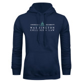 Navy Fleece Hoodie-Official Mark