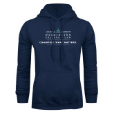 Navy Fleece Hoodie-Official Mark w Tagline Flat