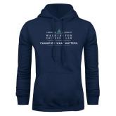 Navy Fleece Hoodie-Official Mark w Tagline Flat
