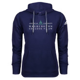 Adidas Climawarm Navy Team Issue Hoodie-Official Mark
