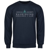 Navy Fleece Crew-Official Mark