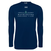 Under Armour Navy Long Sleeve Tech Tee-Official Mark