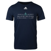 Adidas Navy Logo T Shirt-Official Mark