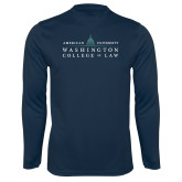 Syntrel Performance Navy Longsleeve Shirt-Official Mark