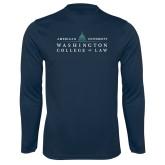 Performance Navy Longsleeve Shirt-Official Mark