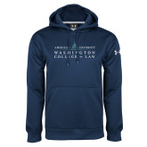 Under Armour Navy Performance Sweats Team Hoodie-Official Mark