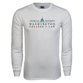 White Long Sleeve T Shirt-Official Mark