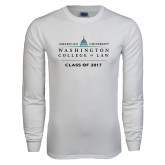 White Long Sleeve T Shirt-Class of, Personalized