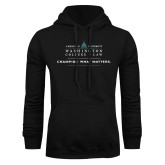 Black Fleece Hoodie-Official Mark w Tagline Flat