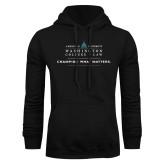 Black Fleece Hoodie-Official Mark w Tagline Flat
