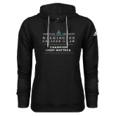 Adidas Climawarm Black Team Issue Hoodie-Official Mark w Tagline Stacked