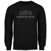 Black Fleece Crew-Official Mark w Tagline Flat