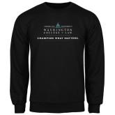 Black Fleece Crew-Official Mark w Tagline Flat