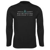 Performance Black Longsleeve Shirt-Official Mark