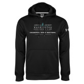 Under Armour Black Performance Sweats Team Hoodie-Official Mark w Tagline Flat