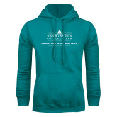 Teal Fleece Hoodie-Official Mark w Tagline Flat