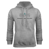 Grey Fleece Hoodie-Official Mark w Tagline Flat