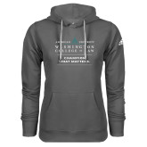 Adidas Climawarm Charcoal Team Issue Hoodie-Official Mark w Tagline Stacked