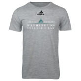 Adidas Sport Grey Logo T Shirt-Official Mark
