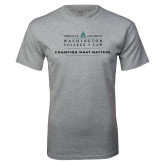Grey T Shirt-Official Mark w Tagline Flat
