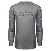 Grey Long Sleeve T Shirt-Official Mark