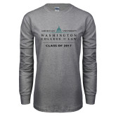 Grey Long Sleeve T Shirt-Class of, Personalized