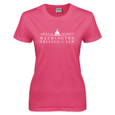 Ladies Fuchsia T Shirt-Official Mark