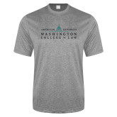 Performance Grey Heather Contender Tee-Official Mark