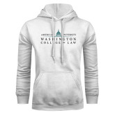 White Fleece Hoodie-Official Mark