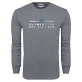 Charcoal Long Sleeve T Shirt-Official Mark