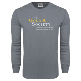 Charcoal Long Sleeve T Shirt-The Gold Society