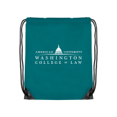 Teal Drawstring Backpack-Official Mark