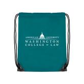 Teal Drawstring Backpack-Official Mark