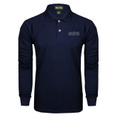 Navy Long Sleeve Polo-Official Mark