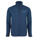 Navy Softshell Jacket-Official Mark