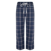 Navy/White Flannel Pajama Pant-Official Mark