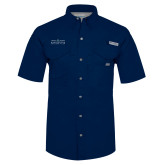 Columbia Bonehead Navy Short Sleeve Shirt-Official Mark