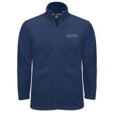 Fleece Full Zip Navy Jacket-Official Mark