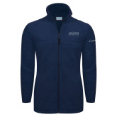 Columbia Full Zip Navy Fleece Jacket-Official Mark