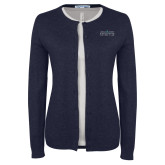 Ladies Navy Cardigan-Official Mark
