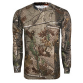 Realtree Camo Long Sleeve T Shirt w/Pocket-Official Mark
