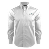 Red House White Dobby Long Sleeve Shirt-Official Mark