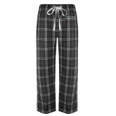Black/Grey Flannel Pajama Pant-Official Mark