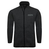 Black Heather Fleece Jacket-Official Mark