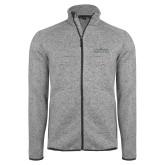 Grey Heather Fleece Jacket-Official Mark