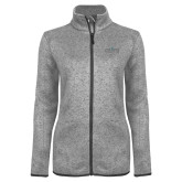 Grey Heather Ladies Fleece Jacket-Official Mark