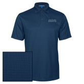 Navy Performance Fine Jacquard Polo-Official Mark