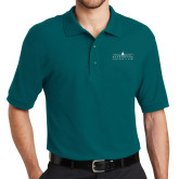 Teal Easycare Pique Polo-Official Mark