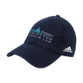 Adidas Navy Slouch Unstructured Low Profile Hat-Official Mark