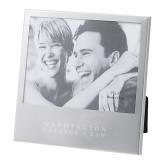 Silver 5 x 7 Photo Frame-Washington College of Law Wordmark Engraved